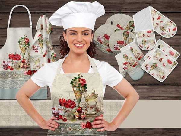 سرویس آشپزخانه زارا 18 پارچه تکه دوزی کد 8