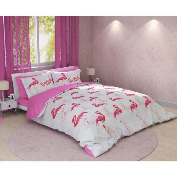 سرویس روتختی ترکسان مدل flamingo دونفره 6 تکه