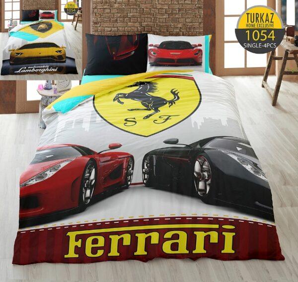 سرویس روتختی ترکاز مدل Ferrari یک نفره 4 تکه